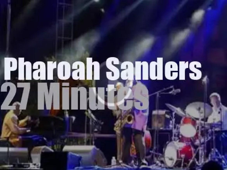 Pharoah Sanders plays at Atlanta Jazz Fest  (2015)