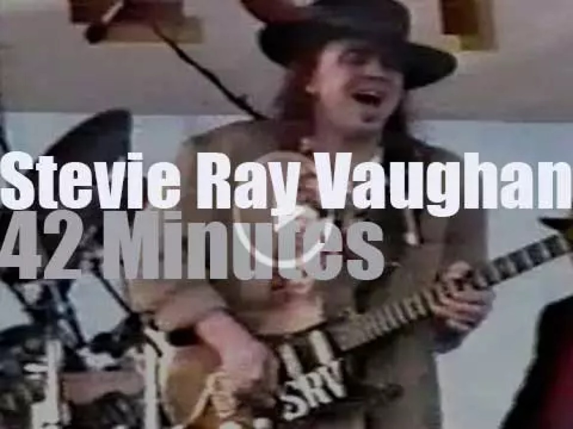 Stevie Ray Vaughan is at New Orleans JazzFest (1990)