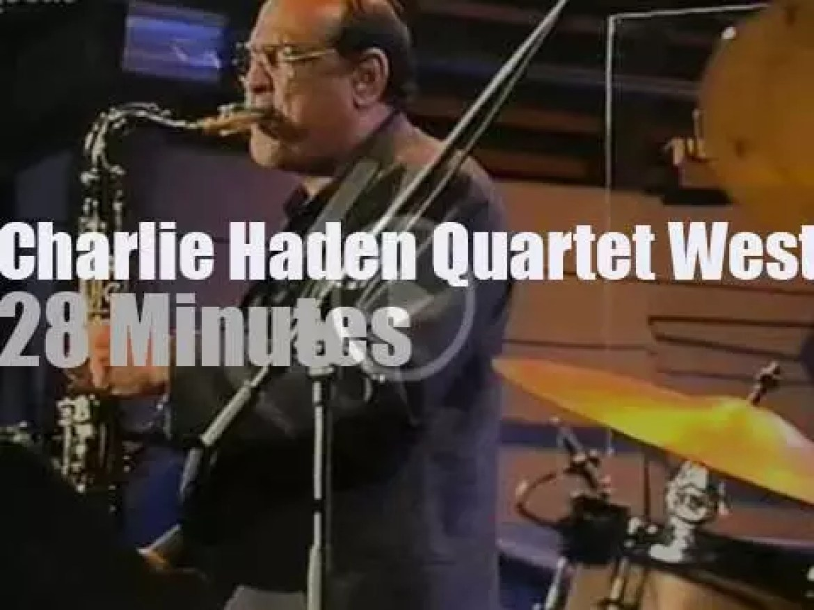 "The Charlie Haden Quartet West is at ""JazzBaltica"" (1999)"