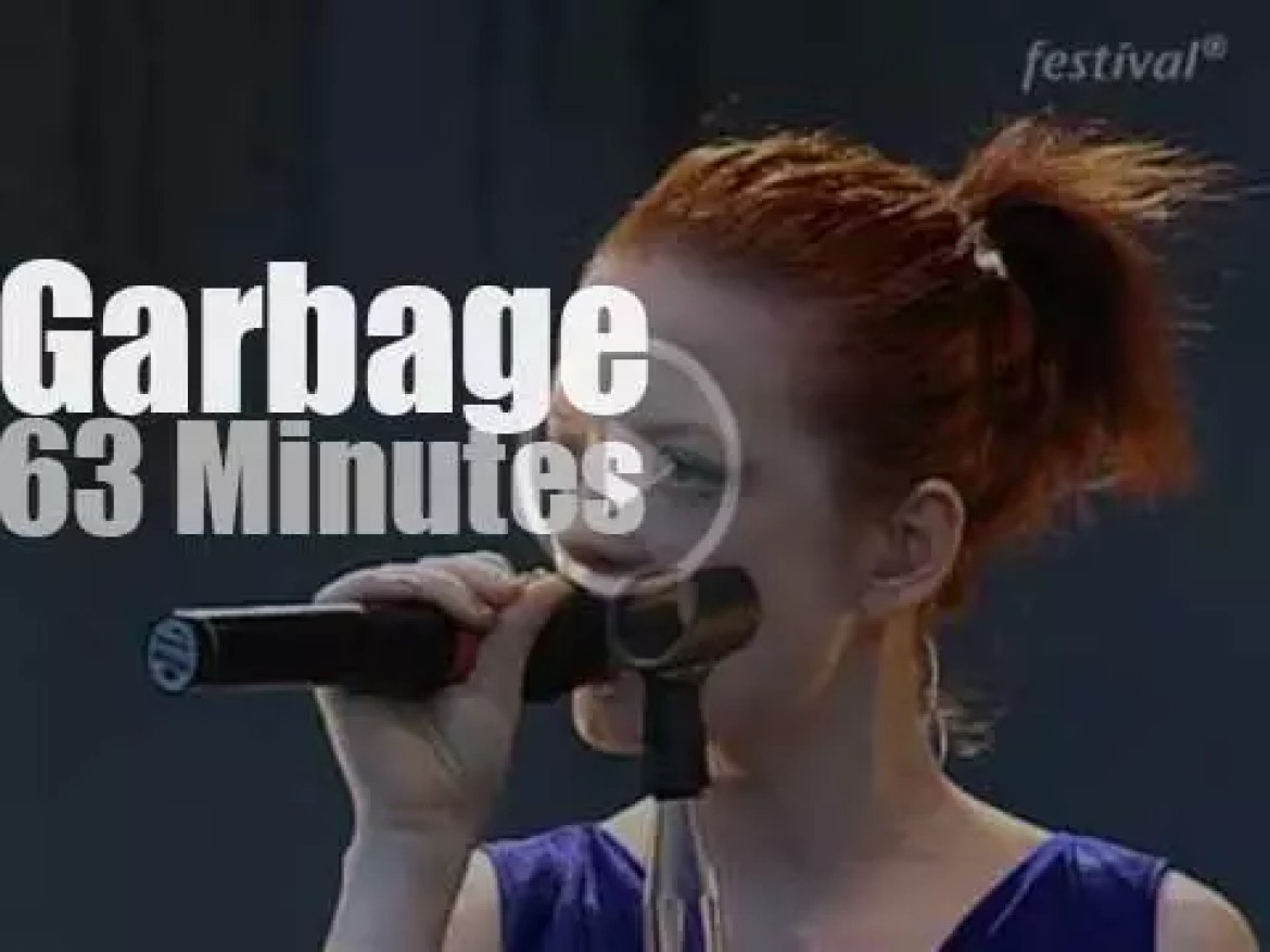 Garbage attends a German festival (1998)