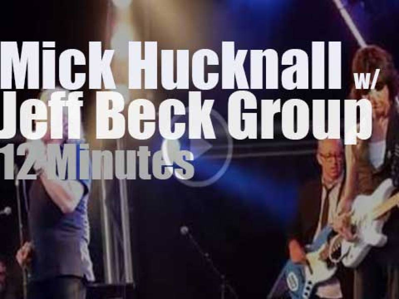 Mick Hucknall joins the Jeff Beck Group (2014)