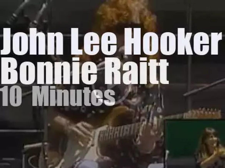 John Lee Hooker & Bonnie Raitt duet for Mandela (1990)
