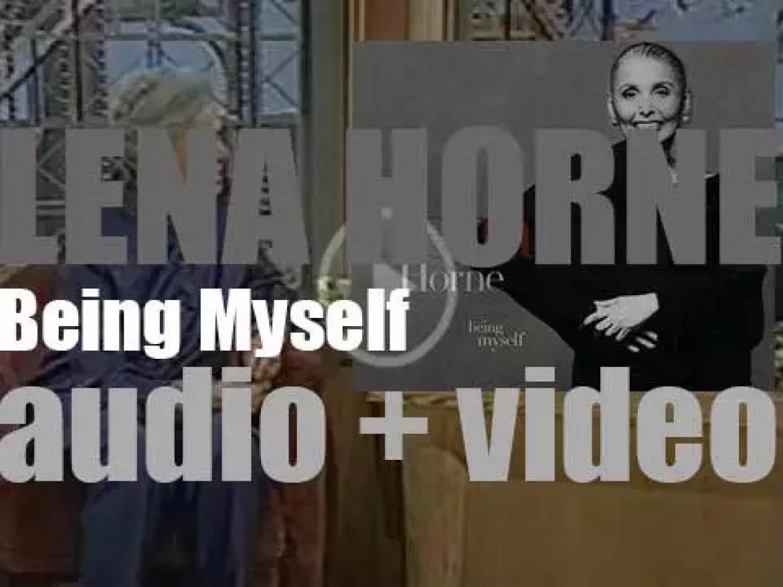 Blue Note publish Lena Horne's 'Being Myself' recorded with George Benson, Donald Harrison, Milt Jackson et al (1998)