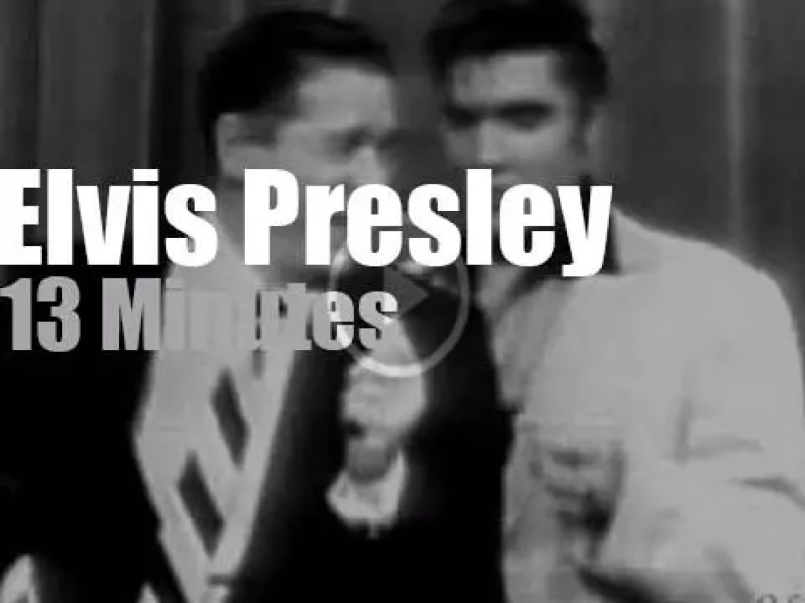 """On TV today, Elvis Presley at """"Milton Berle Show"""" (1956)"""