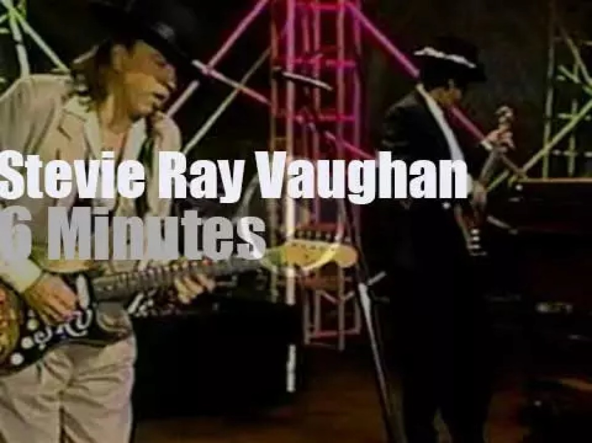 """On TV today, Stevie Ray Vaughan is at """"The Tonight Show.""""  (1990)"""