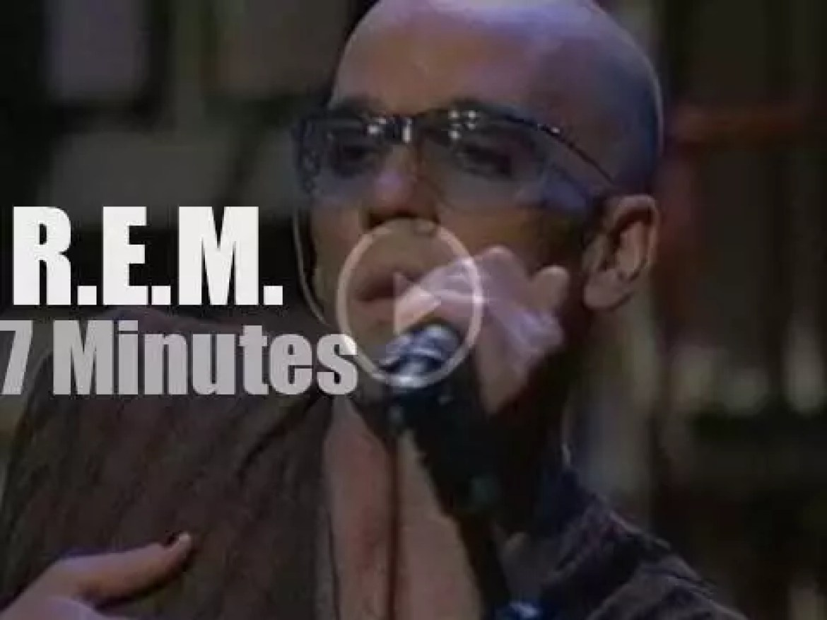 """R.E.M. is on """"The Late Show"""" (1995)"""