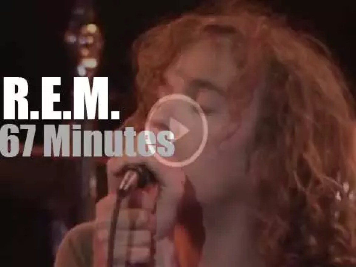 R.E.M. perform in New-Jersey (1984)