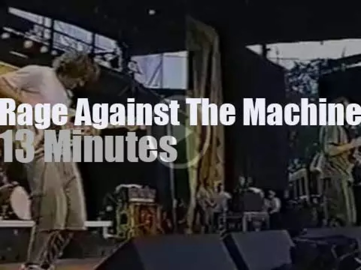 """Rage Against The Machine  is at """"Free Tibet Concert"""" near Chicago  (1999)"""