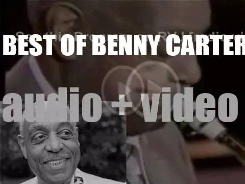 We remember Benny Carter. 'Mellow Toner'