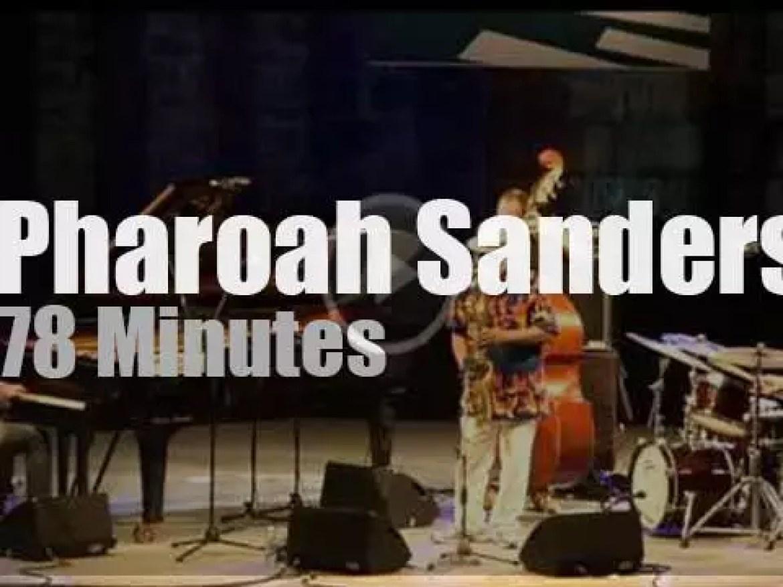 Pharoah Sanders  performs in San Sebastian (2013)