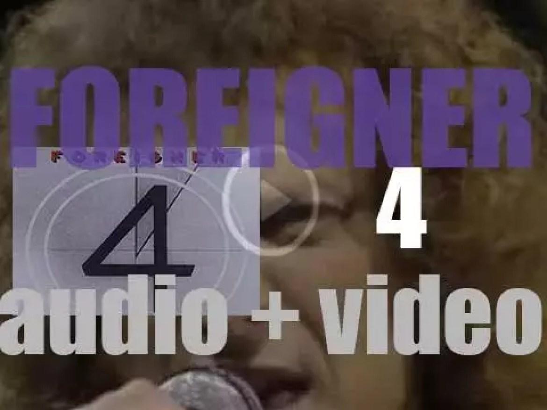 Atlantic release Foreigner's fourth album : '4' featuring 'Urgent' (1981)