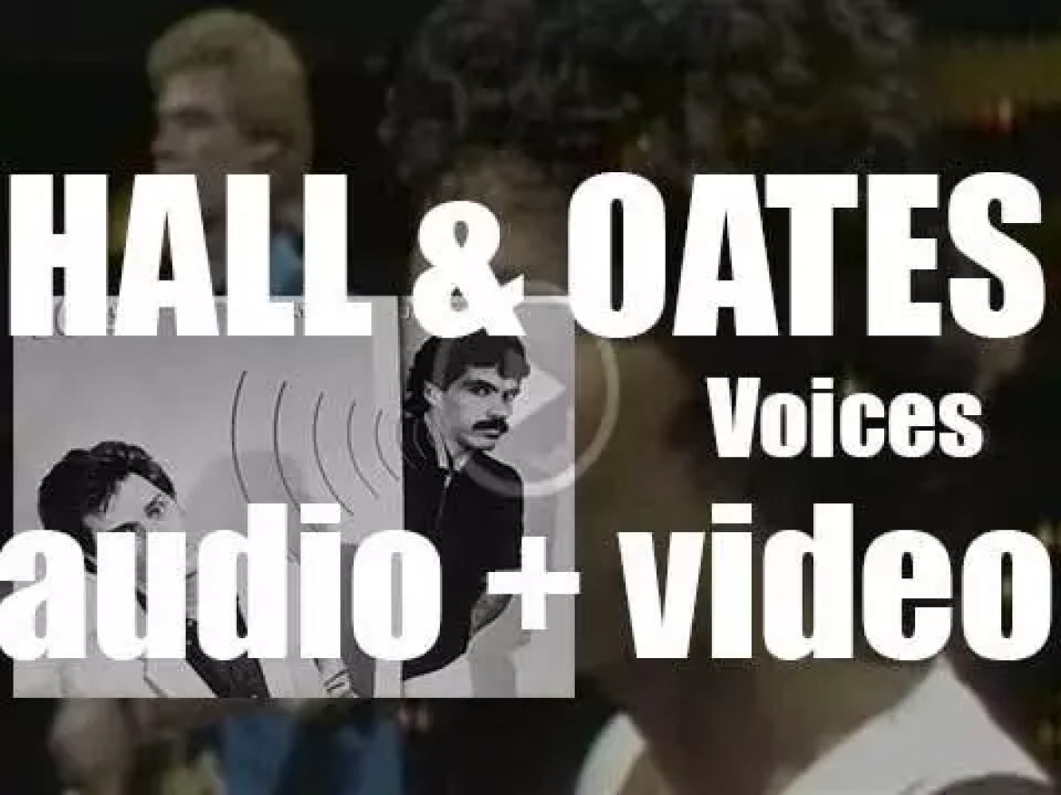 Hall & Oates release their ninth album : 'Voices' featuring 'Kiss on My List' (1980)