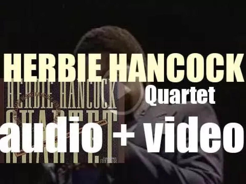 Herbie Hancock records his thirty-fourth album  : 'Quartet' with the V.S.O.P. Quartet  (1981)