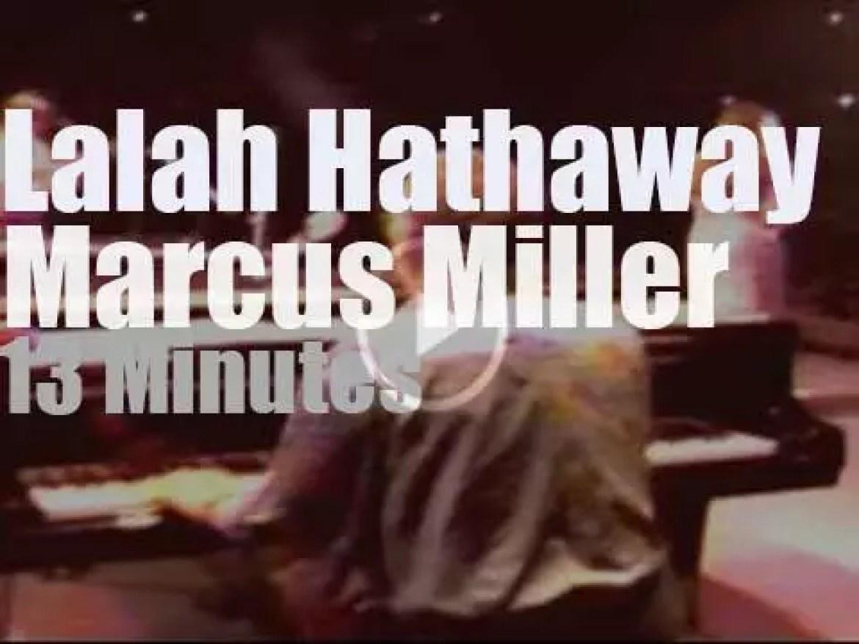 Marcus Miller & Lalah Hathaway meet in  Tokyo (1991)