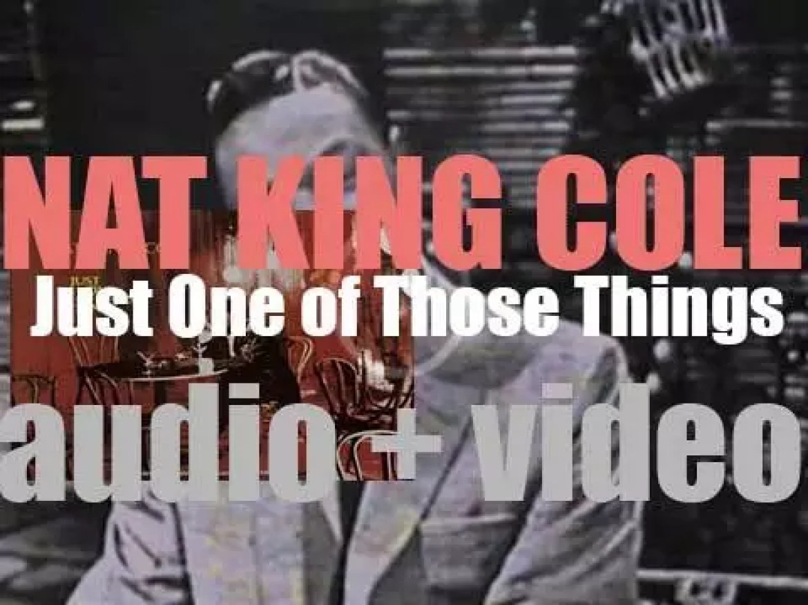 Nat King Cole starts the recording of 'Just One of Those Things,' an album arranged by Billy May (1957)