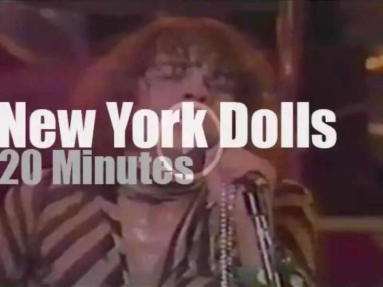 New York Dolls rock in Long Beach (1974)