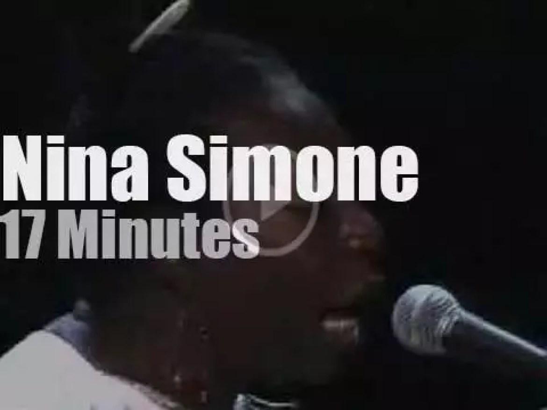 Nina Simone sings at Montreal Jazz Festival (1992)