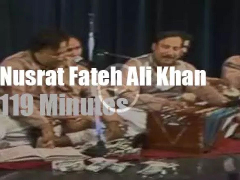 Nusrat Fateh Ali Khan sings in Coventry (1985)