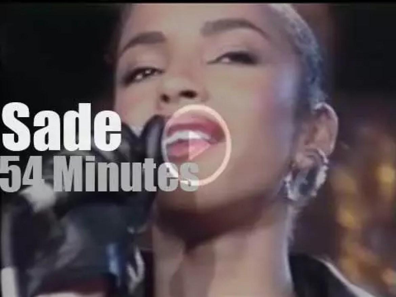 Sade Adu sings at  Montreux Jazz (1984)