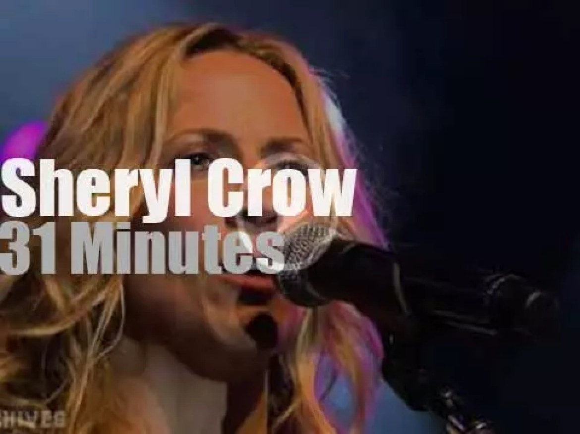 Sheryl Crow sings at Montreux Jazz Festival (2008)