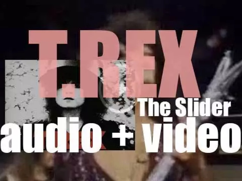 T. Rex release 'The Slider,' their seventh album featuring 'Telegram Sam' (1972)