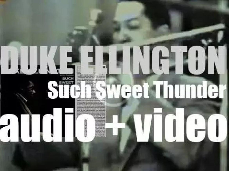 Duke Ellington records 'Such Sweet Thunder,' an album based on the work of William Shakespeare (1957)