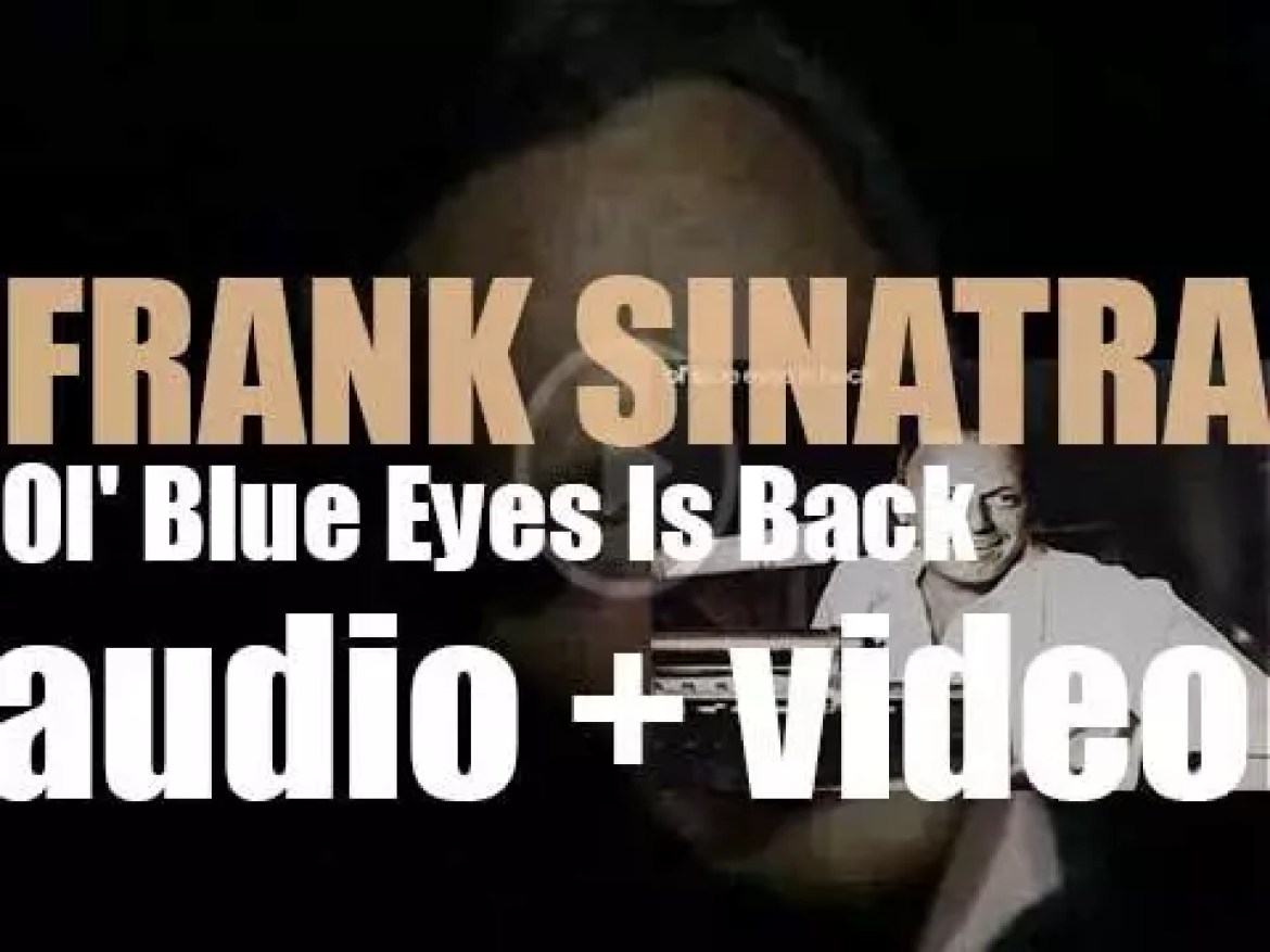 Frank Sinatra records 'Ol' Blue Eyes Is Back' with conductors Gordon Jenkins and Don Costa (1973)