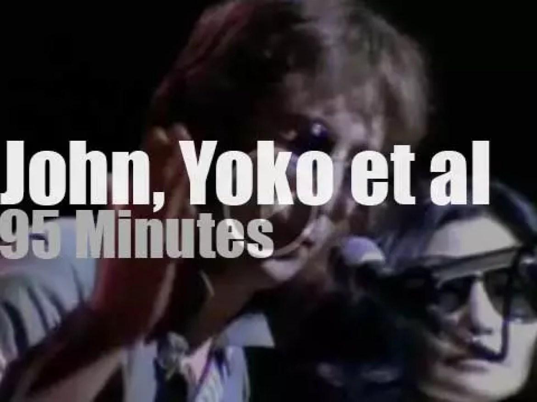 John, Yoko, Stevie & Roberta  play a benefit at MSG (1972)