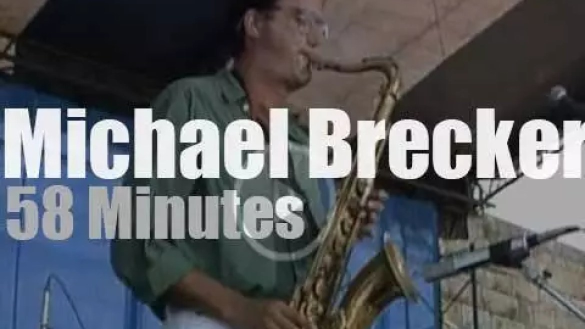 Michael Brecker Band  plays at Newport Jazz (1987)