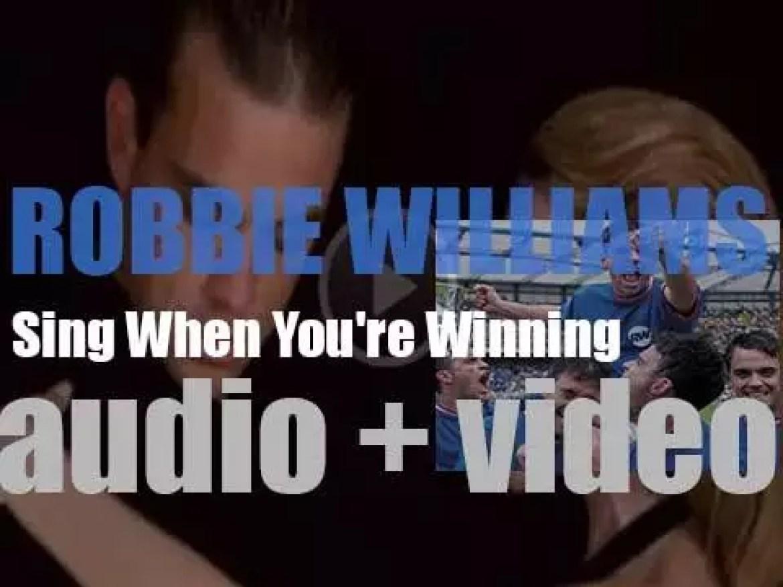 EMI Robbie Williams' third album : 'Sing When You're Winning' featuring 'Rock DJ' and 'Supreme'