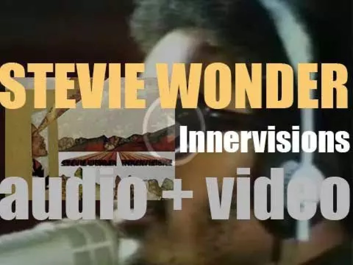 Motown publish Stevie Wonder's 'Innervisions,' his  sixteenth album featuring 'Higher Ground' and 'Living for the City' (1973)