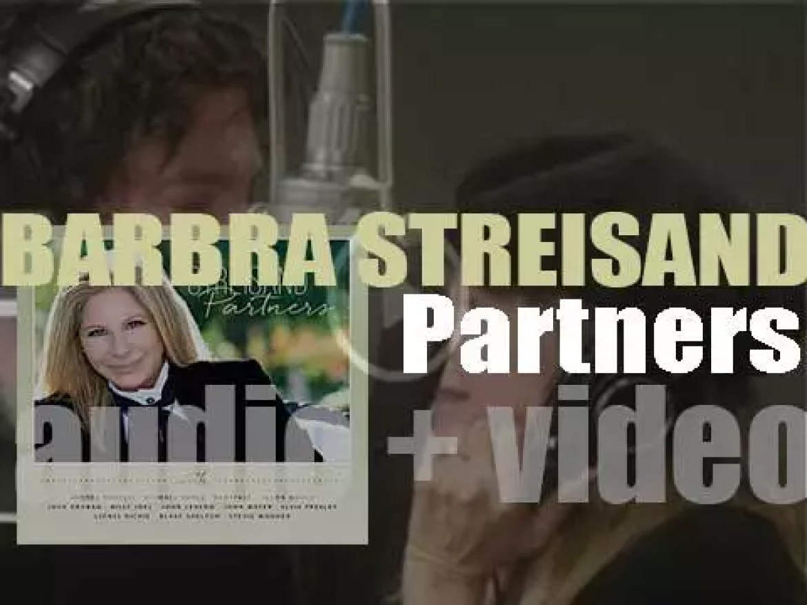 Barbra Streisand releases 'Partners,' her thirty-fourth album featuring duets with  Stevie Wonder, Michael Bublé, Billy Joel, John Legend, John Mayer, Andrea Bocelli, Lionel Richie and Elvis Presley (2014)