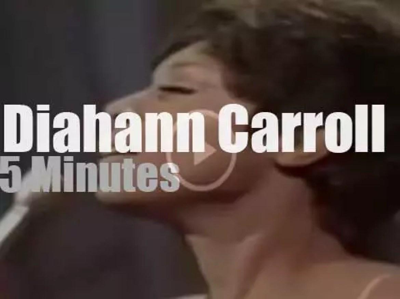 On TV today, Diahann Carroll at 'Hollywood Palace' (1967)