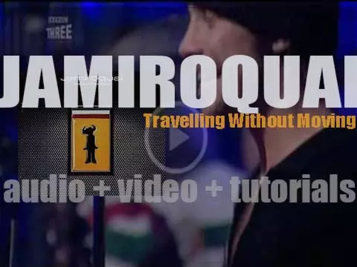 Jamiroquai release their third album : 'Travelling Without Moving' featuring 'Virtual Insanity' (1996)
