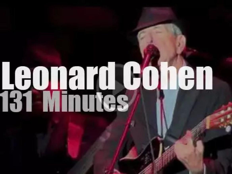 Leonard Cohen visits Verona (2012)
