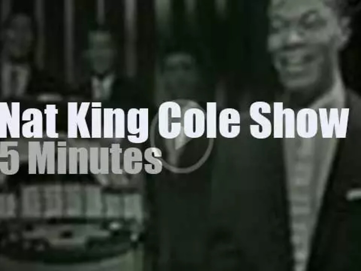 On TV today, Peggy Lee et al with Nat King Cole (1957)