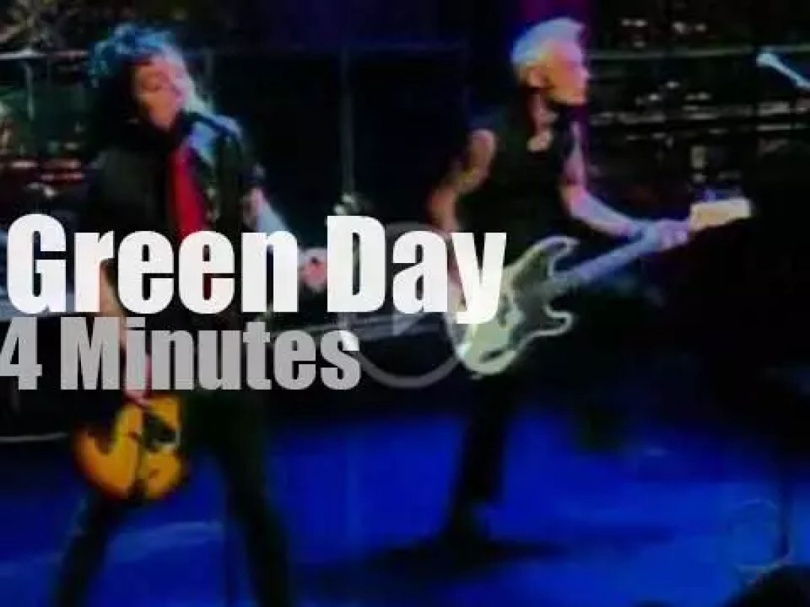 On TV today, Green Day  with David Letterman (2004)