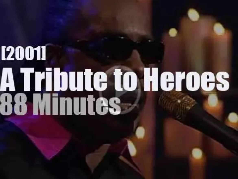 Stevie Wonder, Bruce Springsteen et al pay 'A Tribute to Heroes' (2001)