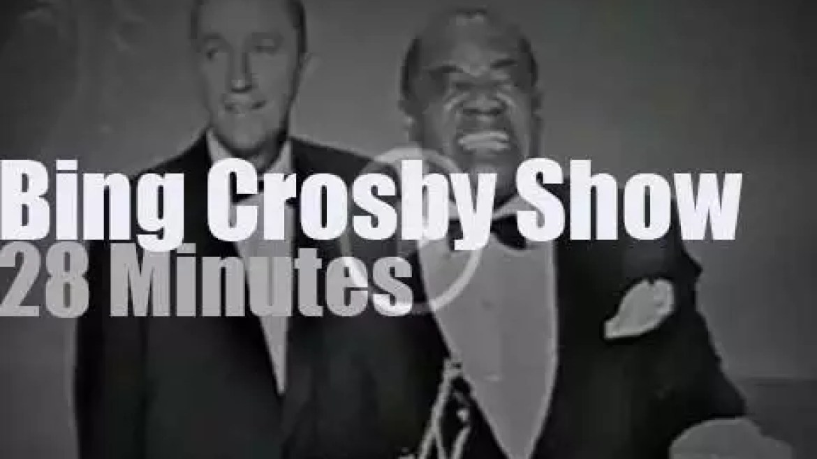 On TV today,  Louis, Peggy et al at 'The Bing Crosby Show' (1959)