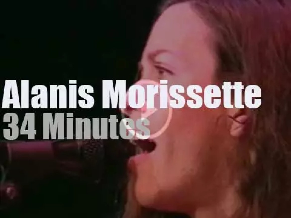 Alanis Morissette  supports a school project (1997)