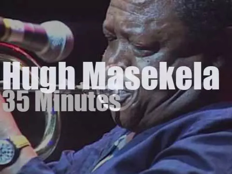 Hugh Masekela accompanies Nelson Mandela (1993)
