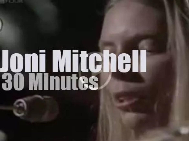 BBC airs Joni Mitchell's private concert (1970)