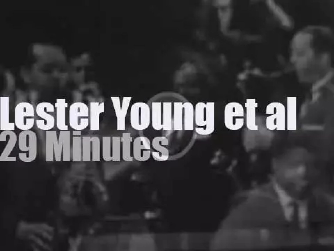 On TV today, Lester Young et al at 'Art Ford Jazz Party' (1958)