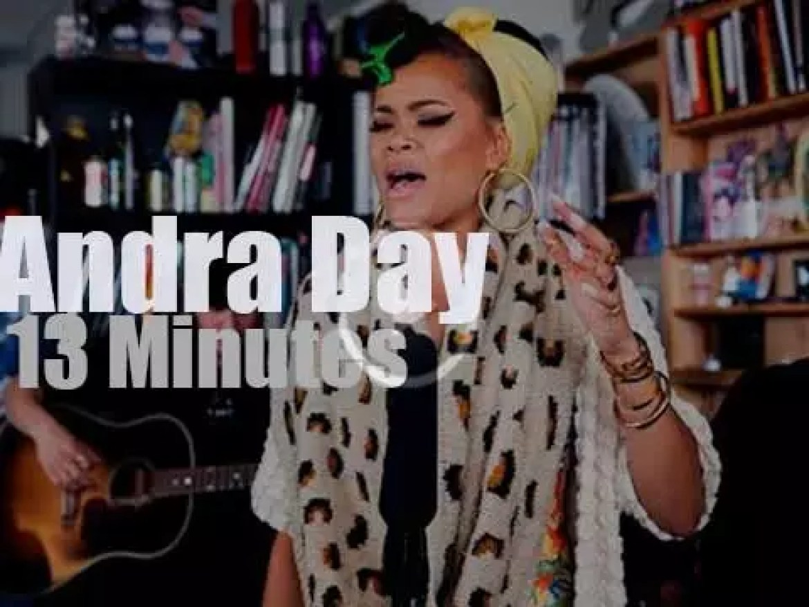 On TV today, Andra Day at 'NPR Music Tiny Desk' (2015)