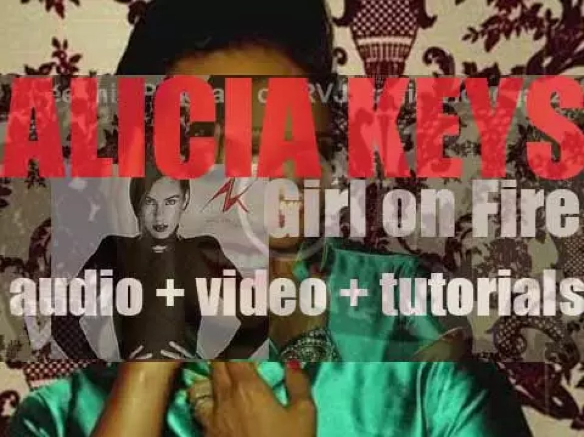 Alicia Keys releases her fifth album : 'Girl on Fire' featuring 'Girl On Fire' and 'Brand New Me' (2012)
