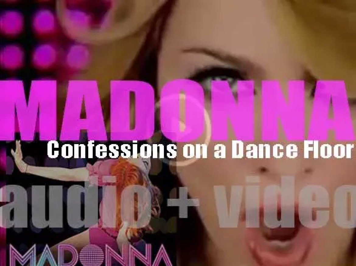 Madonna releases her tenth album : 'Confessions on a Dance Floor' featuring 'Hung Up,' 'Sorry,' 'Get Together' and 'Jump' (2005)