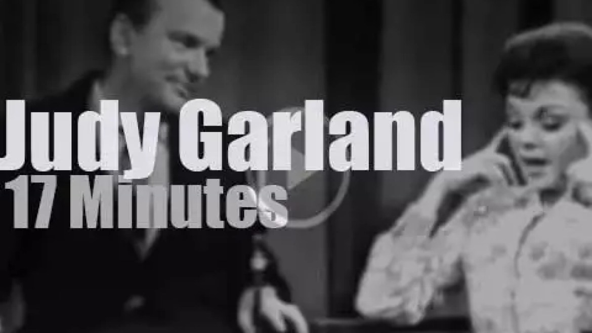On TV today, Judy Garland with Jack Paar (1964)