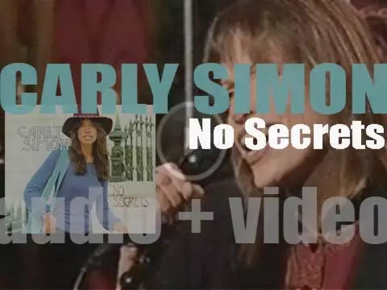 Carly Simon releases her third studio album : 'No Secrets' featuring 'You're So Vain' (1972)