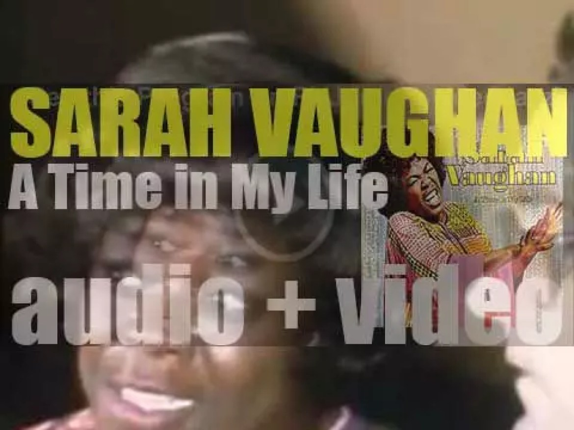 Sarah Vaughan ends the recording of 'A Time in My Life' (1971)