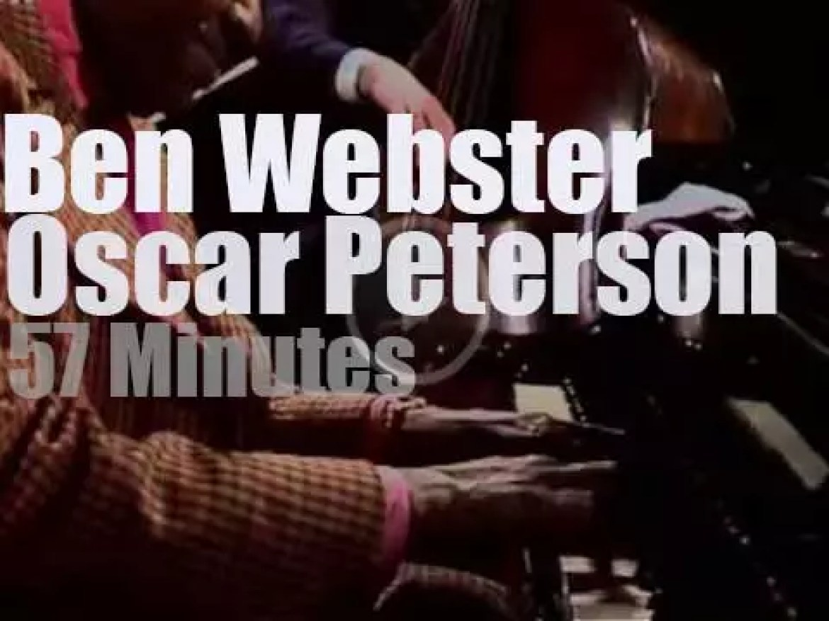 Ben Webster sits in with Oscar Peterson Trio (1972)
